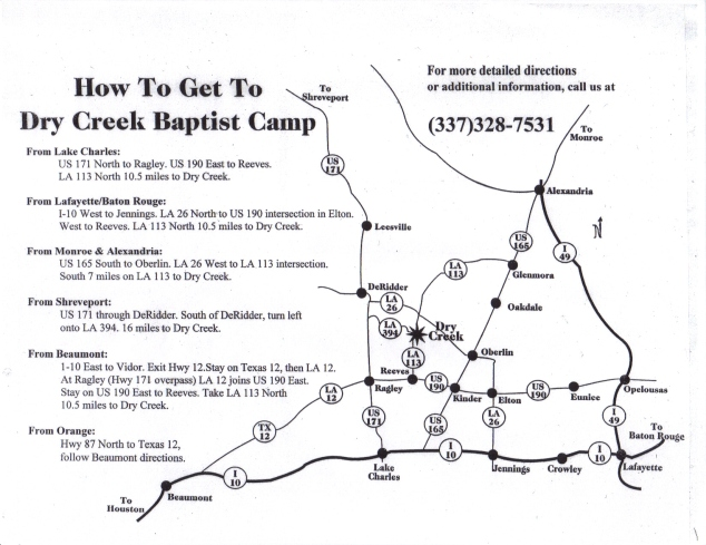 Dry Creek Map